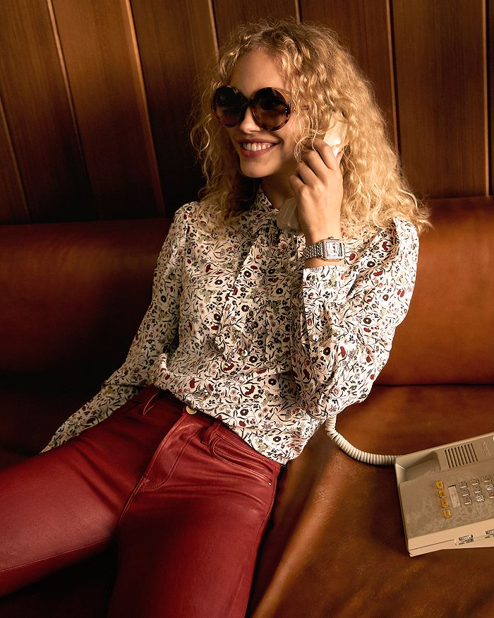 FRAME - Silk Blouse, Coated Jeans & More