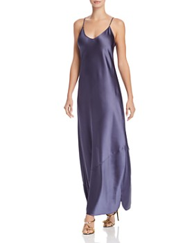 AQUA - Happily Grey x AQUA Satin Maxi Slip Dress - 100% Exclusive