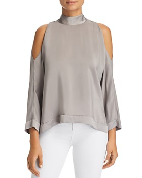 eb7b0554b63b9 Go by Go Silk - Cold-Shoulder Top ...