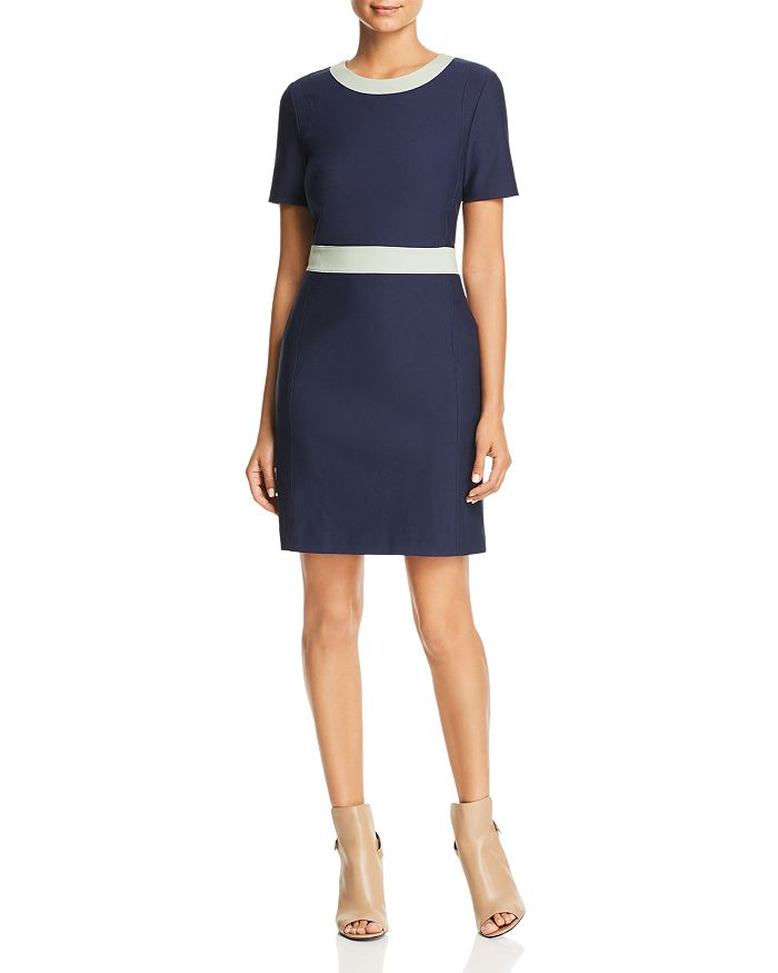e60e57d8ef570 Tory Burch Color-Block Ponte Dress | Bloomingdale's