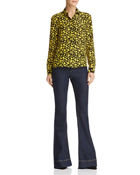 Alice and Olivia - Willa Floral Print Silk Blouse