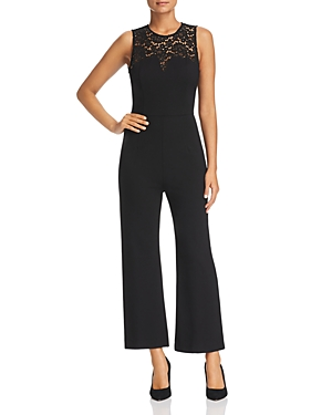 Three Dots Lace Trimmed Jumpsuit