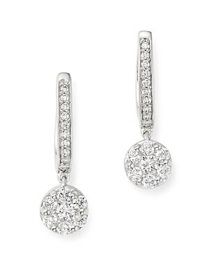 Bloomingdale's Diamond Cluster Drop Earrings in 14K White Gold, 0.60 ct. t.w. - 100% Exclusive