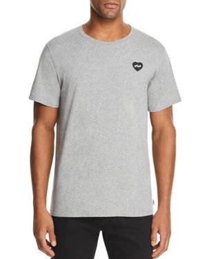 BANKS Heart Graphic Tee in Heather Gray