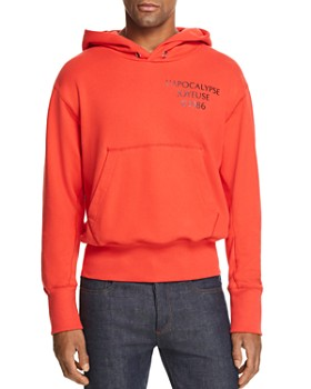 Helmut Lang - Upside-Down Logo Hooded Graphic Sweatshirt