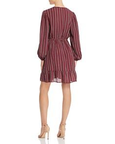 Band of Gypsies - Aurora Striped Faux-Wrap Mini Dress