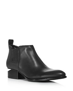 Alexander Wang - Women's Kori Pointed Toe Leather Ankle Boots - Silver-Tone Hardware