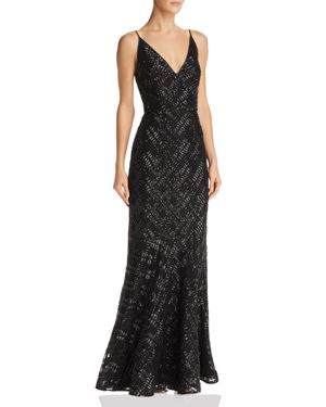 Eliza J Sequined Mermaid Gown