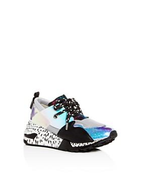 19cfd25ea10 STEVE MADDEN - Girls  JCliff Mixed-Media Lace-Up Platform Sneakers - Little  ...
