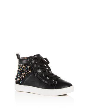 Steve Madden Girls' JHybrid Embellished High-Top Sneakers - Little Kid, Big Kid
