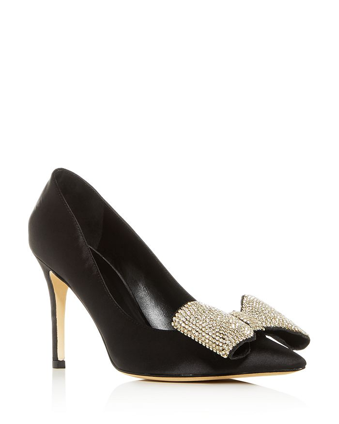 kate spade new york - Women's Viena Embellished Bow Pointed-Toe Pumps