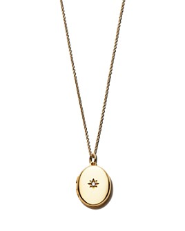 Sasha Samuel - 14K Yellow Gold Plate Jess Locket Necklace with Solitaire Cubic Zirconia, 20""