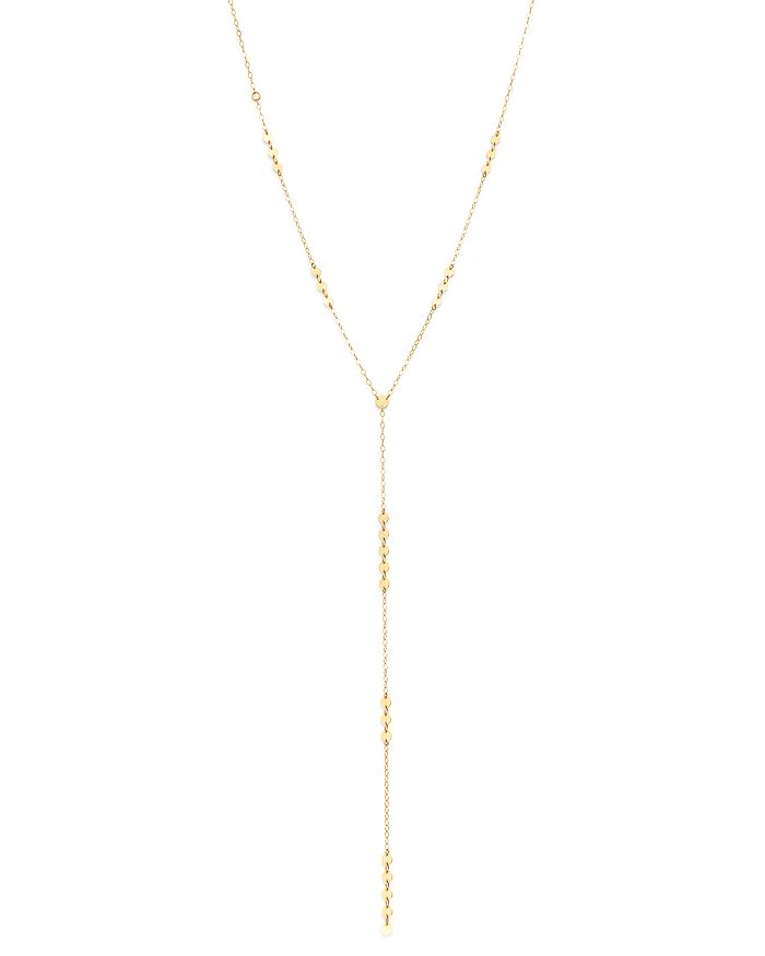 """Moon & Meadow - Cable Chain & Disk Y Necklace in 14K Yellow Gold, 20"""" - 100% Exclusive"""