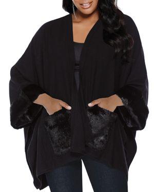 Belldini Plus Kimono Style Open Cardigan
