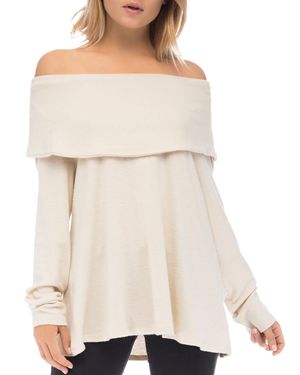 B COLLECTION BY BOBEAU B Collection By Bobeau Off-The-Shoulder Sweater in Sugar
