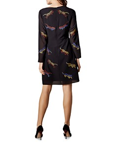 KAREN MILLEN - Tiger Embroidered Dress