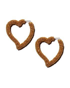 Sachin and Babi - Silk Georgette Heart Drop Earrings