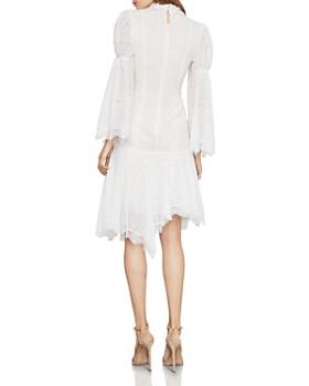 BCBGMAXAZRIA - Puff-Sleeve Asymmetric Lace Dress