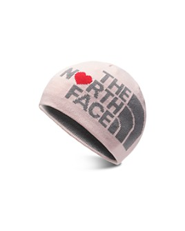 The North Face® - Girls' Reversible Logo Heart Glow-in-the-Dark Beanie - Kids
