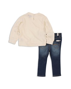 7 For All Mankind - Girls' Bow Sweatshirt & Skinny Jeans Set - Baby
