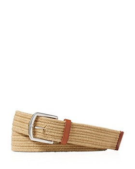 Polo Ralph Lauren - Leather-Trimmed Braided Belt