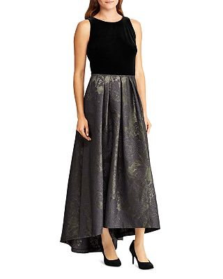 Ralph Lauren Metallic Jacquard Ball Gown Bloomingdales