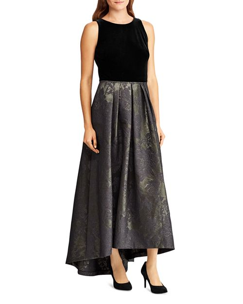 Ralph Lauren Metallic Jacquard Ball Gown Bloomingdales