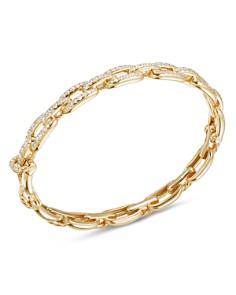 David Yurman - Stax Chain Link Bracelet with Diamonds in 18K Yellow Gold