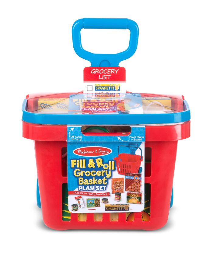 Melissa & Doug Fill & Roll Grocery Basket Play Set - Ages 3+    Bloomingdale's