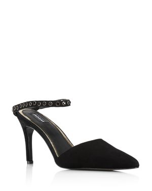 JAGGAR Women'S Opulent Pointed Toe Studded Pumps in Black