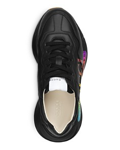 Gucci - Women's Rhyton Logo Leather Sneakers