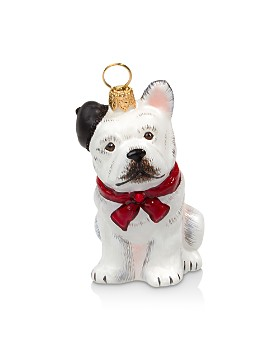 Joy to the World - French Bulldog with Beret Ornament