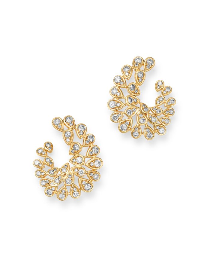Bloomingdale's Diamond Front-to-Back Statement Earrings in 14K Yellow Gold, 2.0 ct. t.w. - 100% Exclusive  | Bloomingdale's