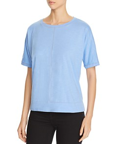 Eileen Fisher - Organic-Cotton Contrast-Stitch Tee