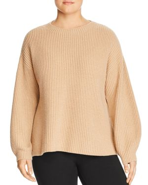 Eileen Fisher Plus Cashmere Blouson Sleeve Sweater