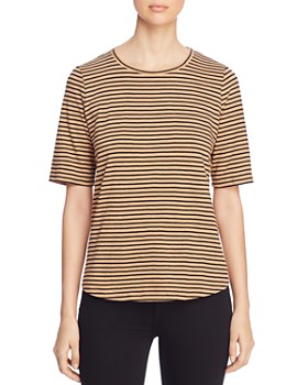 Eileen Fisher - Striped Organic-Cotton Tee