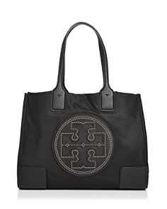 Tory Burch - Ella Mini Stud Nylon & Leather Tote