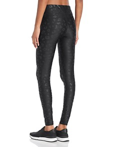 Terez - Foil Cheetah Print Leggings