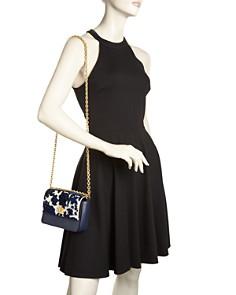 Tory Burch - Kira Fil Coupe Mini Leather & Velvet Convertible Shoulder Bag