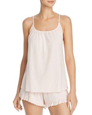 NATURAL SKIN Ruffle-Trim Short Pajama Set in Pearl Pink