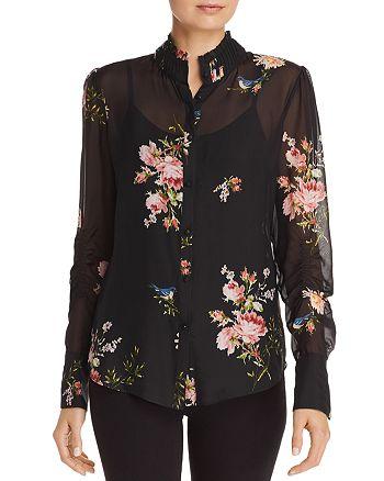 2d64310aa1e635 Joie Elzie Silk Floral Blouse | Bloomingdale's