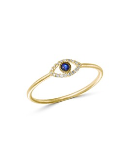 Meira T - 14K Yellow Gold Evil Eye Blue Sapphire & Diamond Ring