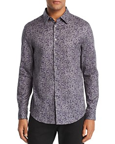 John Varvatos Collection - Abstract-Print Slim Fit Sport Shirt