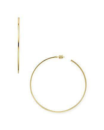 AQUA - Large Hoop Earrings in 18K Gold-Plated Sterling Silver or Sterling Silver - 100% Exclusive