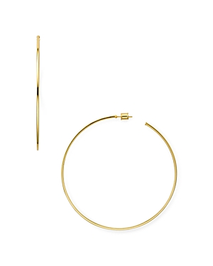 Aqua LARGE HOOP EARRINGS IN 18K GOLD-PLATED STERLING SILVER OR STERLING SILVER - 100% EXCLUSIVE