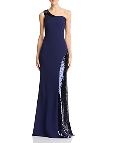 Aidan Mattox - One-Shoulder Sequined Gown