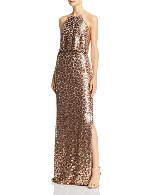 Aidan Mattox - Sequined Lace Gown