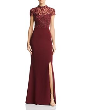 Aidan Mattox - Embellished Bodice Gown