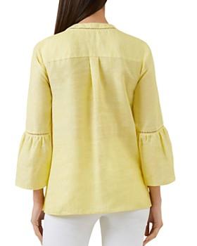 HOBBS LONDON - Maudie Bell-Sleeve Linen Top