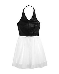 Miss Behave - Girls' Zia Faux-Leather Tutu Dress - Big Kid